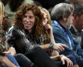 """<p>Professional snowboader Shaun White, known as """"The Flying Tomato,"""" sits in a courtside seat to watch the Golden State Warriors face the Denver Nuggets in the first quarter of an NBA basketball game in Denver on Tuesday, Dec. 1, 2009. (AP Photo/David Zalubowski) </p>"""