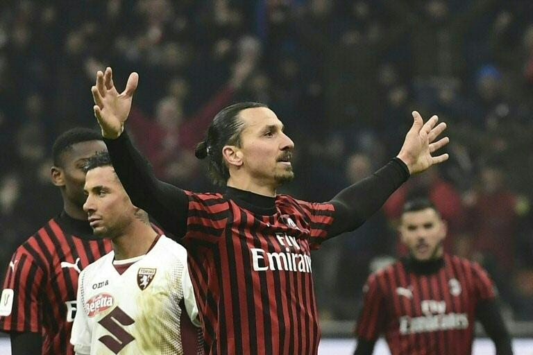 Zlatan Ibrahimovic has scored ten goals in all competitions since his return to AC Milan in January. (AFP Photo/MIGUEL MEDINA)