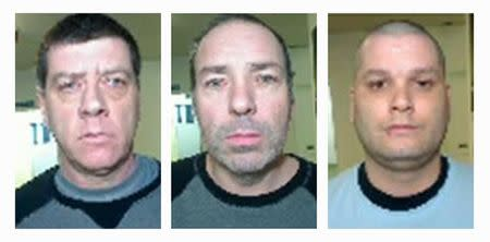 Surete du Quebec's photos of escapees Denis Lefebvre, Serge Pomerleau and Yves Denis