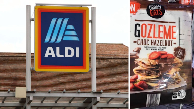 Aldi's $4 chocolate-hazlenut gozleme has sent shoppers into a frenzy. Source: Getty/Facebook