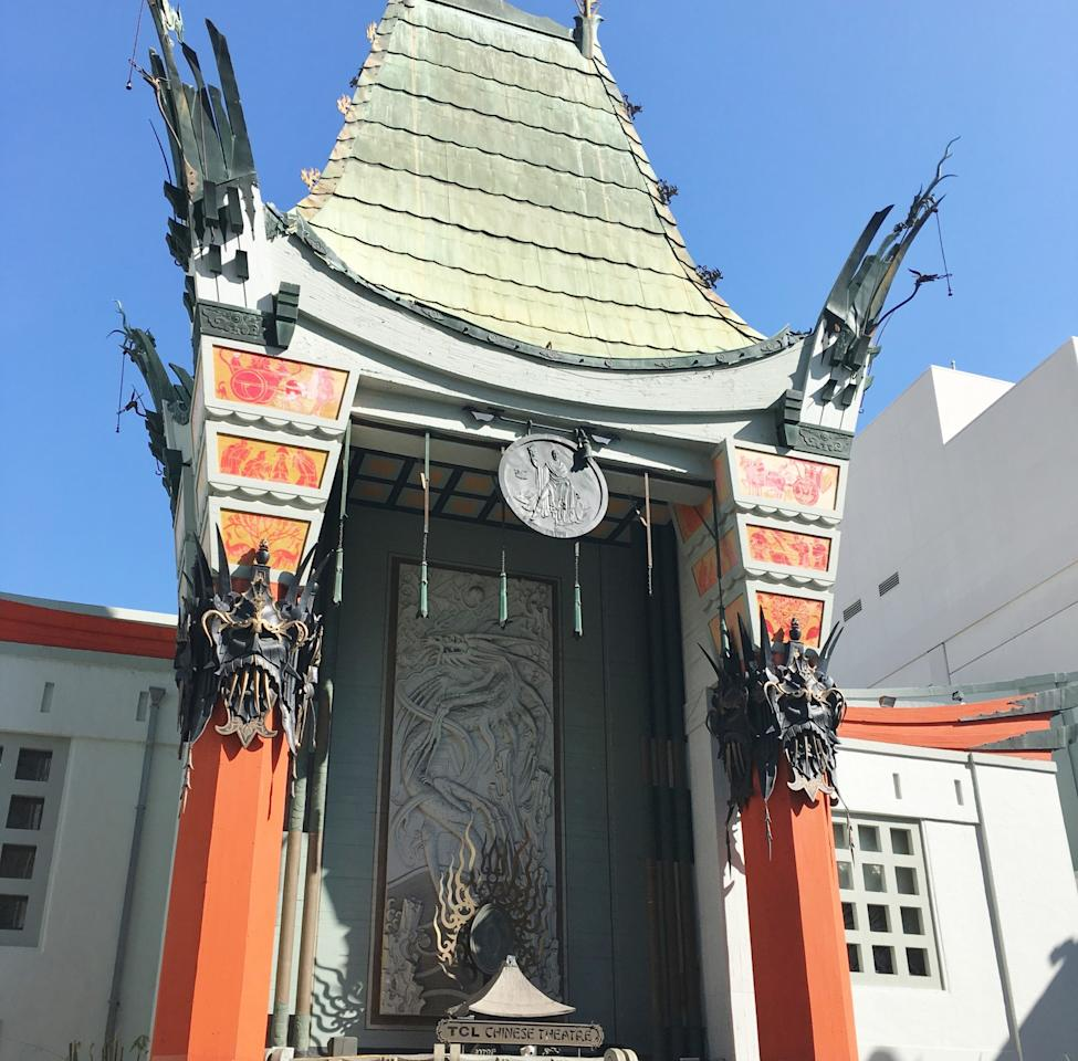 "<p>As you are exploring the Hollywood Walk of Fame, you're bound to pass the famous Grauman's Chinese Theatre (now the <a rel=""nofollow"" href=""http://www.tclchinesetheatres.com/"">TCL Chinese Theatre</a>). It's still a working cinema but is also the place where all the hand and foot prints of film stars past and present are located.<br /> It opened in 1922 and has been host to many movie premieres, including the 1977 opening of Star Wars. There were even three Oscars ceremonies held here (in the mid 1940s). The theatre offers tours every 30-45 minutes of the interiors and of the prints outside, which you can book when you arrive.<br /><b>Hollywood & Highland, 6925 Hollywood Blvd, Hollywood, CA 90028, USA</b> </p>"