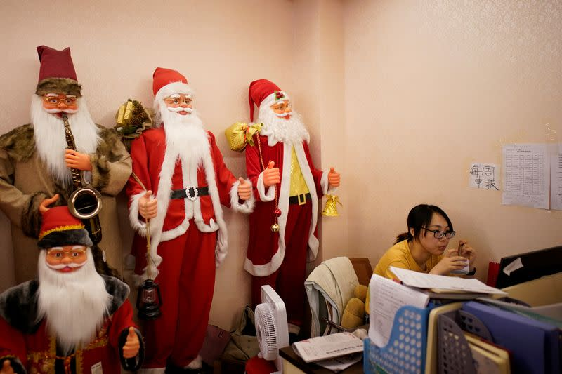 Coronavirus dampens seasonal cheer in China's Christmas production hub