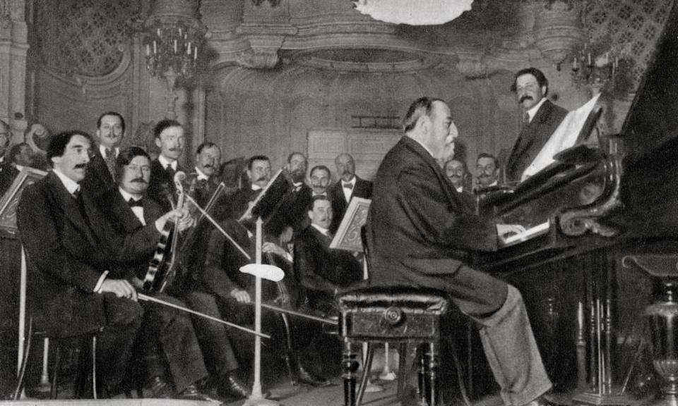 Saint-Saëns at the piano. A child prodigy, he was reckoned to be more gifted than Mozart