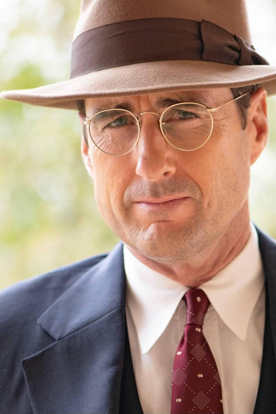 """Actor Luke Wilson as high school football coach Rusty Russell in """"12 Mighty Orphans."""""""