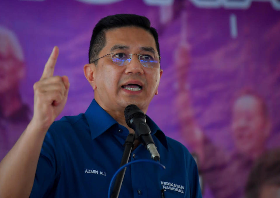 Senior Minister Datuk Seri Azmin Ali (pic) and Home Minister Datuk Seri Hamzah Zainuddin have been repeatedly accused of being the prime movers behind the so-called 'Sheraton Move'.  — Bernama pic