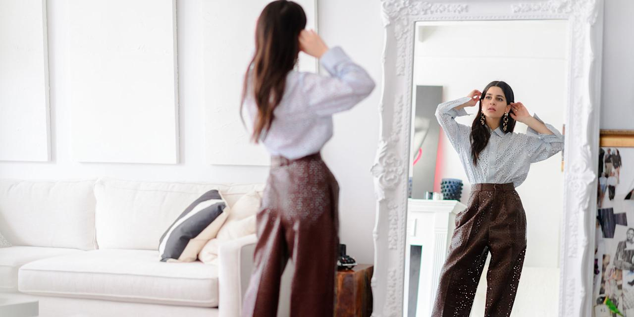 <p>The fashion-lover's abode leverages her cool, minimal style…</p>
