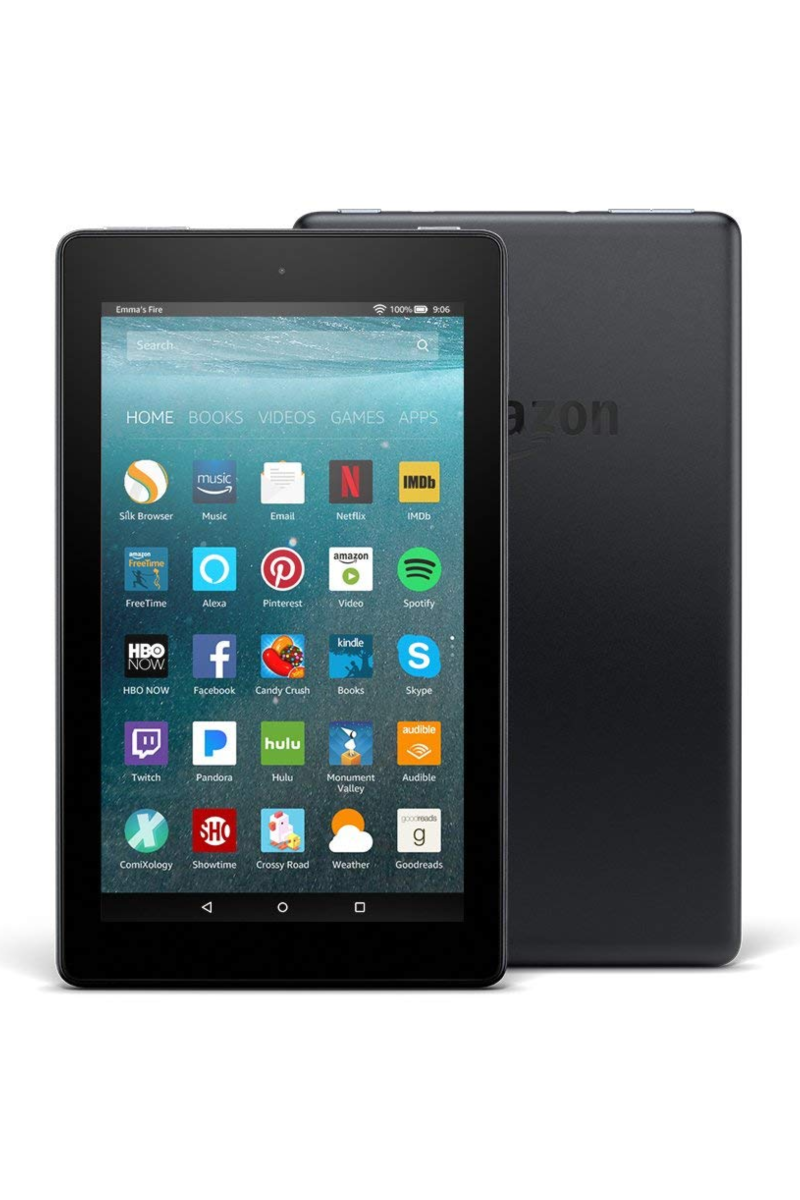 """<p><a rel=""""nofollow noopener"""" href=""""https://www.amazon.com/Fire-Tablet-Alexa-Display-Black/dp/B01GEW27DA/"""" target=""""_blank"""" data-ylk=""""slk:BUY NOW"""" class=""""link rapid-noclick-resp"""">BUY NOW</a> <strong><em>$49.99, Amazon</em></strong></p><p>Amazon's tablet comes in a variety of colors and also boasts Alexa integration, meaning you can control it with voice commands. The longer battery life than past models is just a bonus. </p>"""