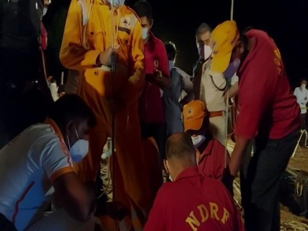Rescue operation underway by NDRF and SDRF teams late night on Friday. (Photo/ANI)
