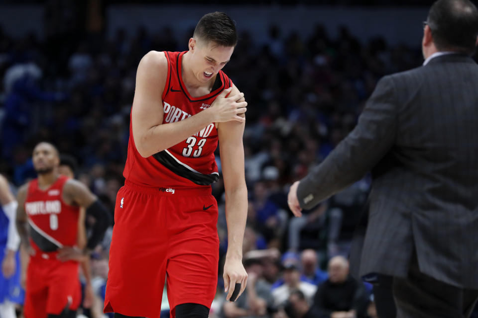 After injuring his shoulder against the Mavericks last week, Portland big man Zach Collins will now require surgery.