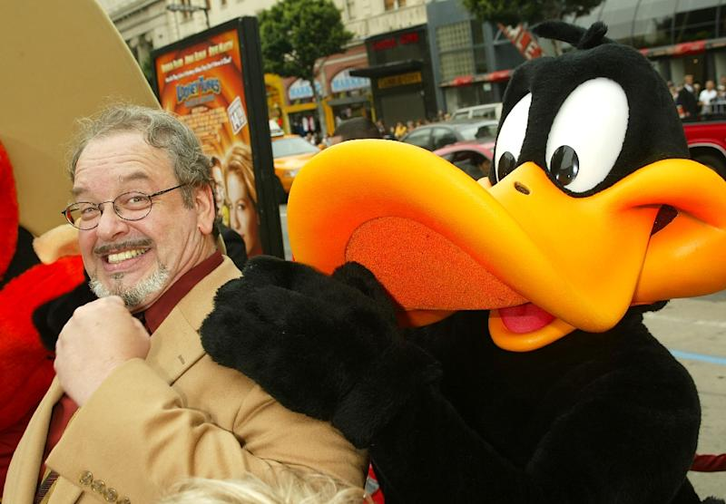 """Cartoon voice actor Joe Alaskey arrives at the premiere of """"Looney Tunes: Back in Action"""" on November 9, 2003 in Los Angeles, California"""