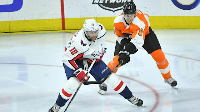 The Capitals and Philadelphia Flyers play on NBC at 12:30 p.m. Sunday. Washington has won the first three meetings between the two teams this season.