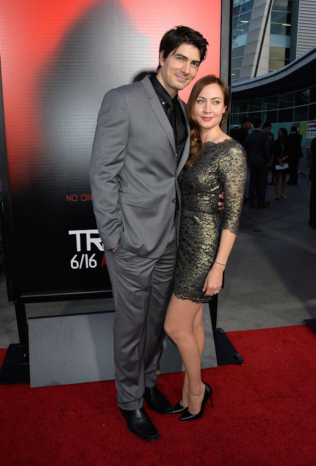 HOLLYWOOD, CA - JUNE 11: Actors Brandon Roth and Courtney Ford attend the premiere of HBO's 'True Blood' Season 6 at ArcLight Cinemas Cinerama Dome on June 11, 2013 in Hollywood, California. (Photo by Frazer Harrison/Getty Images)