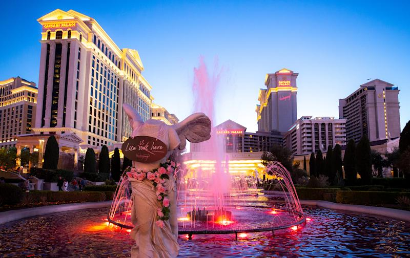 Lisa Vanderpump paints Caesars Palace pink for the grand opening of Vanderpump Cocktail Garden.