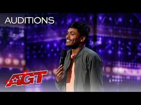 "<p>When it comes to his stand-up routine, Usama isn't afraid to go there — and when he does, he absolutely delivers. In the audition round, he talked about his name and getting broken up with. Time will tell what subjects he'll tackle next!</p><p><a href=""https://www.youtube.com/watch?v=TMkiML-uFGU"" rel=""nofollow noopener"" target=""_blank"" data-ylk=""slk:See the original post on Youtube"" class=""link rapid-noclick-resp"">See the original post on Youtube</a></p>"