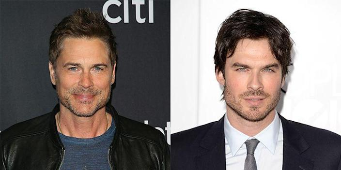 <p>There may be an age gap between Rob Lowe and Ian Somerhalder, but the resemblance is still strongly visible. The actors are two peas in a pod with their strong, square jawlines and piercing blue eyes—not to mention their scruff.</p>