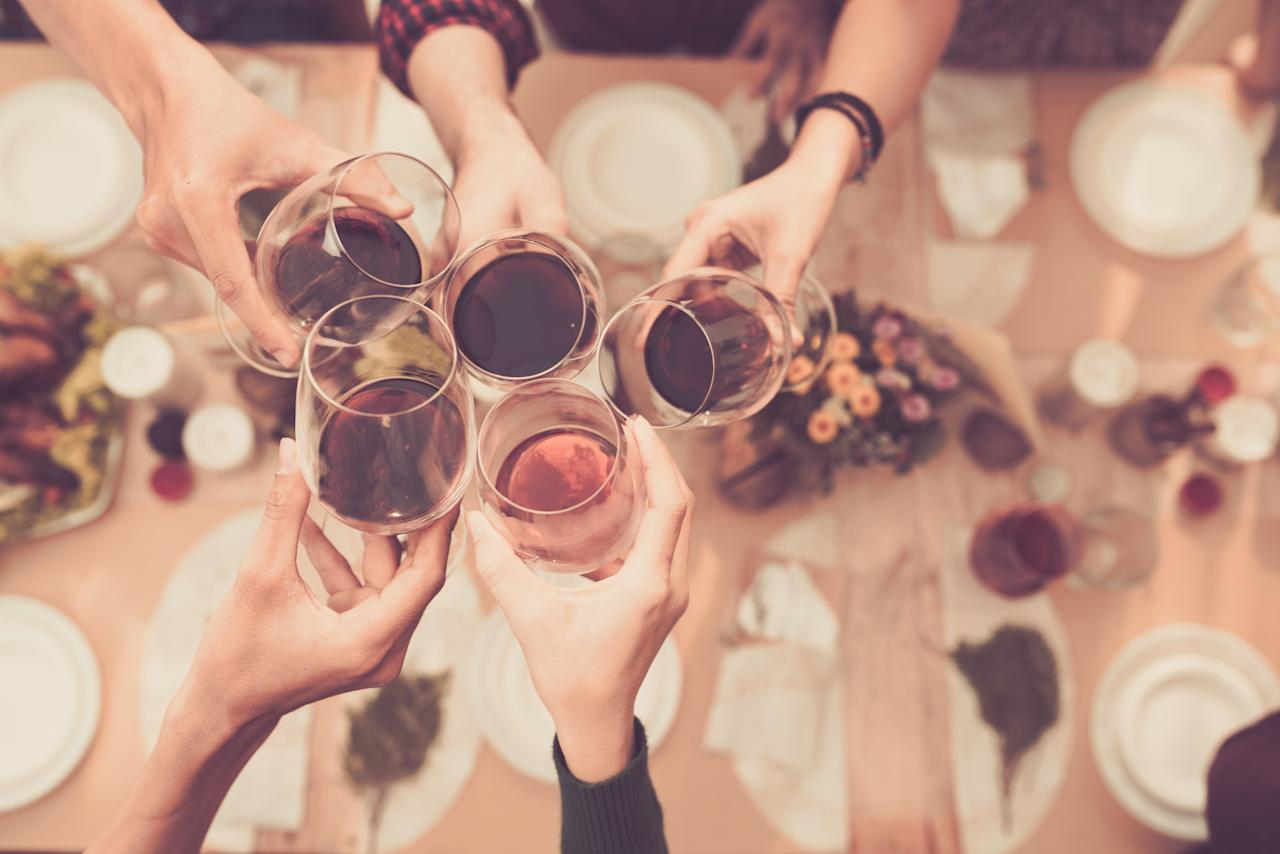 """<p>There's no question booze can do a number on your body, especially when you throw back a few too many (hello, awkward holiday happy hour!)—from bloating and brain fog to the all-out misery of a head-pounding <a href=""""https://www.health.com/health/gallery/0,,20452426,00.html"""">hangover</a>. But by taking a few precautions <em>before </em>the alcohol starts to flow, you can help minimize the damage, experts say. Here's what to eat (and what to skip) to prep you body for a big night out.</p> <p><strong>RELATED: <a href=""""https://www.health.com/nutrition/lowest-calorie-alcohol"""">8 Alcoholic Drinks Ranked From Most Calories to Least</a></strong></p>"""