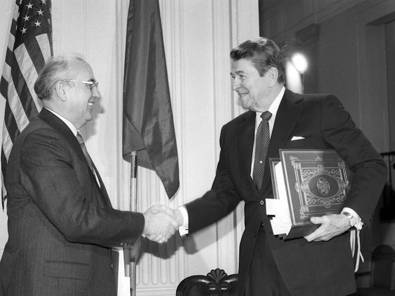 After the signing of the Intermediate-Range Nuclear Forces Treaty