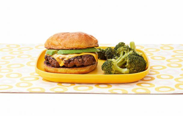 """PHOTO: """"GYOB,"""" or """"Grind Your Own Burgers"""" recipe by Jeff Mauro's 11-year-old son, Lorenzo. (Ralph Smith / Food Network Magazine)"""