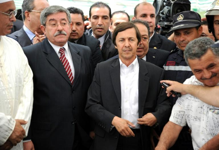 Said Bouteflika (C-R), was seen as the real power behind his brother, former Algerian president Abdelaziz Bouteflika