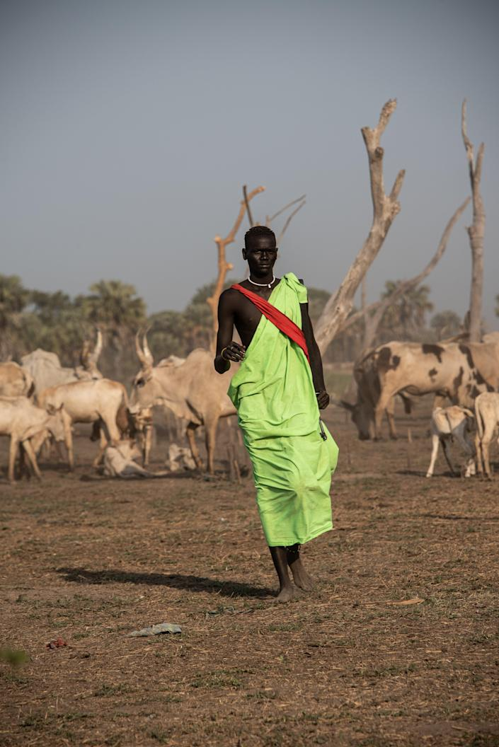 A youth at a cattle camp, where he will spend months at a time protecting livestockValentina Morriconi