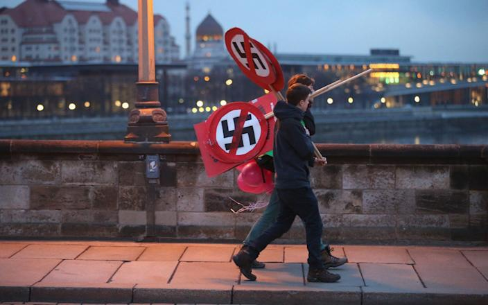 File photo of an anti-Neo Nazi protest in Dresden in 2014 - Getty Images Europe