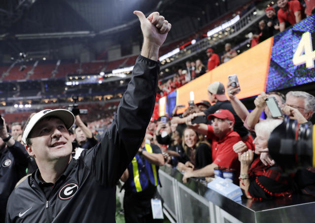 Kirby Smart's rapid makeover of Georgia should be appealing to NFL franchises looking for a turnaround. (AP)