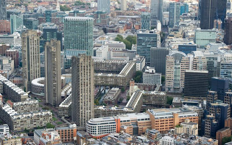 The Barbican Centre from above - Credit: Geoff Pugh/Telegraph