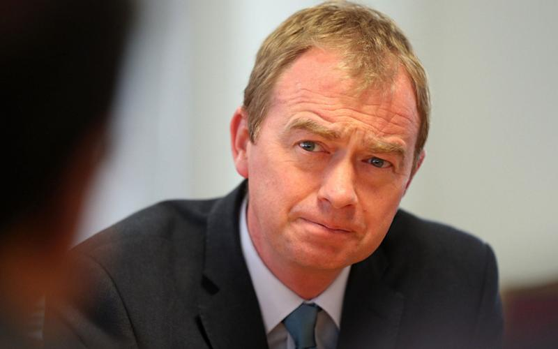 Tim Farron, the Liberal Democrat leader - PA