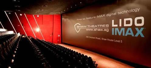 The spanking new Lido IMAX theatre, Singapore's first. (Picture courtesy Shaw Lido)