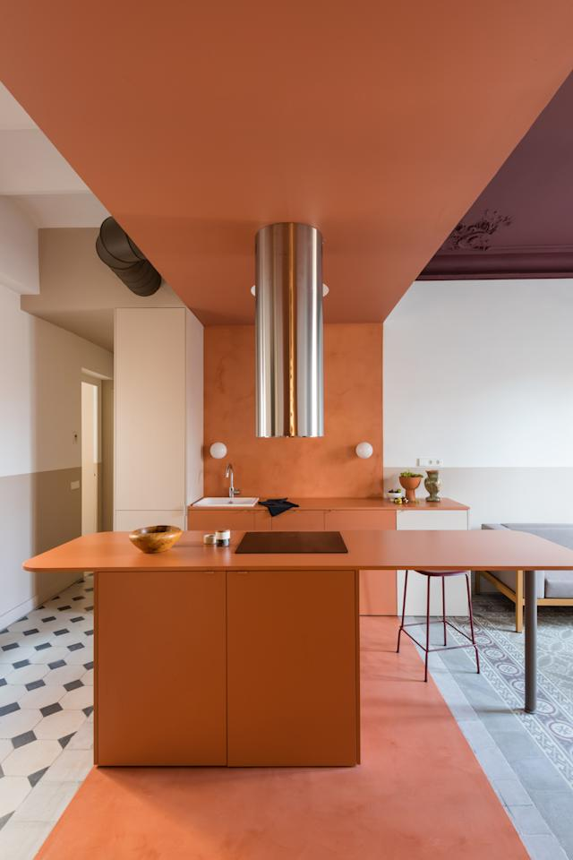After A Tragic Fire This Barcelona Apartment Was Rescued By Color Blocking