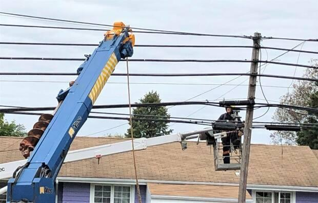 Currently, all of Maritime Electric's power line technicians are men. (Kevin Yarr/CBC - image credit)