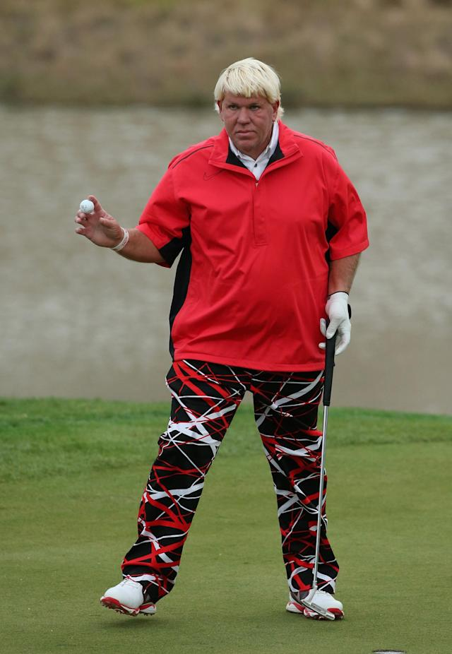 SHANGHAI, CHINA - OCTOBER 25: John Daly of the USA in action during the second round of the BMW Masters at Lake Malaren Golf Club on October 25, 2013 in Shanghai, China. (Photo by Andrew Redington/Getty Images)