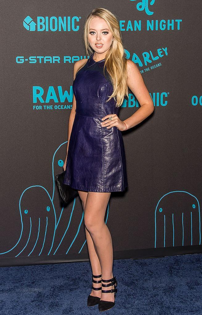 <p>In a thigh-skimming purple leather dress at the the G-Star RAW Ocean Night Event during Mercedes-Benz Fashion Week Spring 2015. <i> (Photo: Getty) </i> </p>