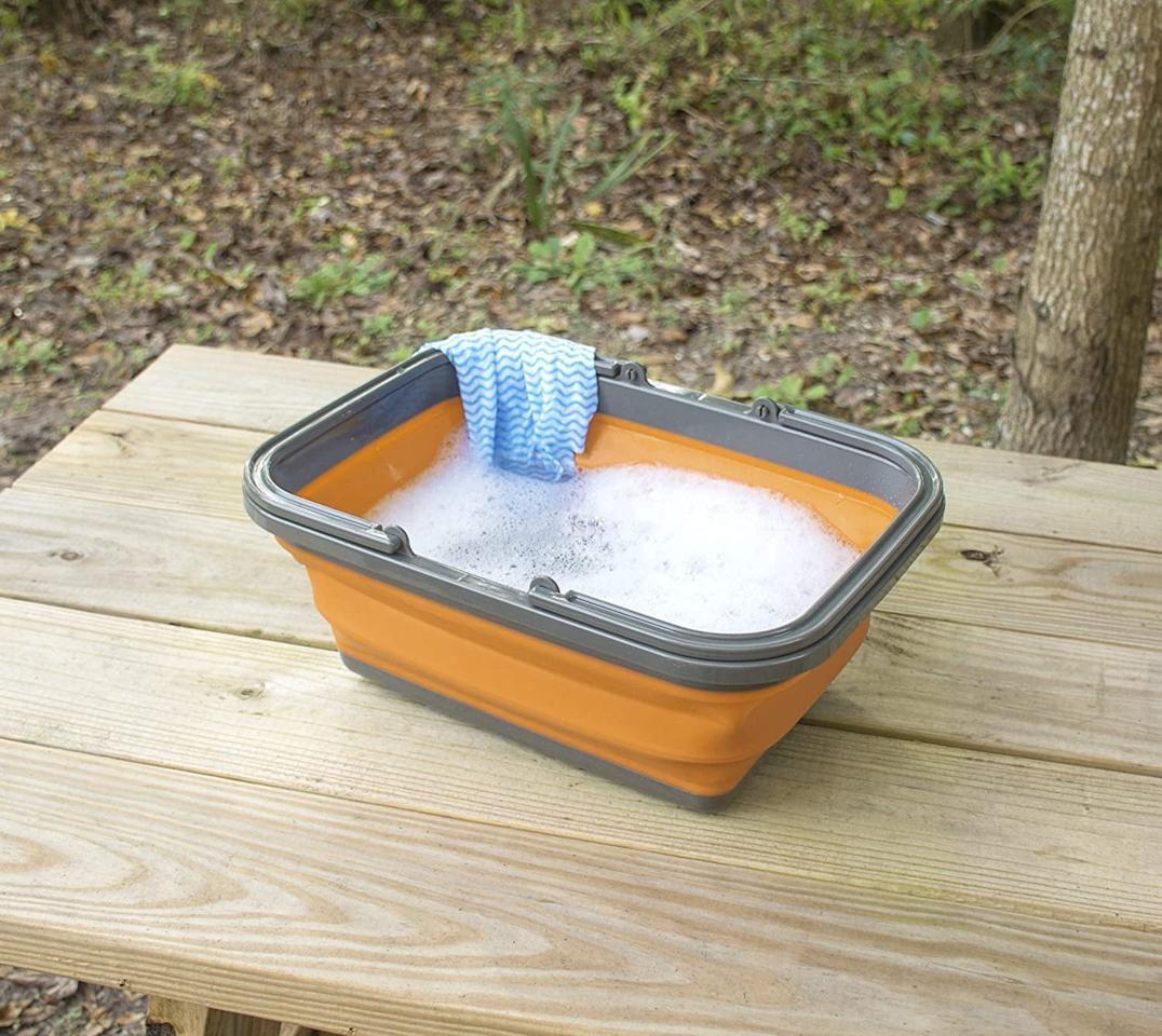 "<p>This <a href=""https://www.popsugar.com/buy/UST-FlexWare-Collapsible-Sink-585996?p_name=UST%20FlexWare%20Collapsible%20Sink&retailer=amazon.com&pid=585996&price=22&evar1=savvy%3Auk&evar9=47585582&evar98=https%3A%2F%2Fwww.popsugar.com%2Fsmart-living%2Fphoto-gallery%2F47585582%2Fimage%2F47585789%2FUST-FlexWare-Collapsible-Sink&list1=travel%2Camazon%2Ccamping&prop13=api&pdata=1"" rel=""nofollow"" data-shoppable-link=""1"" target=""_blank"" class=""ga-track"" data-ga-category=""Related"" data-ga-label=""https://www.amazon.com/UST-FlexWare-Collapsible-Washing-Camping/dp/B01E7EJ1H2/ref=sr_1_29?dchild=1&amp;keywords=camping+gear&amp;qid=1593544784&amp;sr=8-29"" data-ga-action=""In-Line Links"">UST FlexWare Collapsible Sink</a> ($22) is great for washing dishes or even washing your face.</p>"