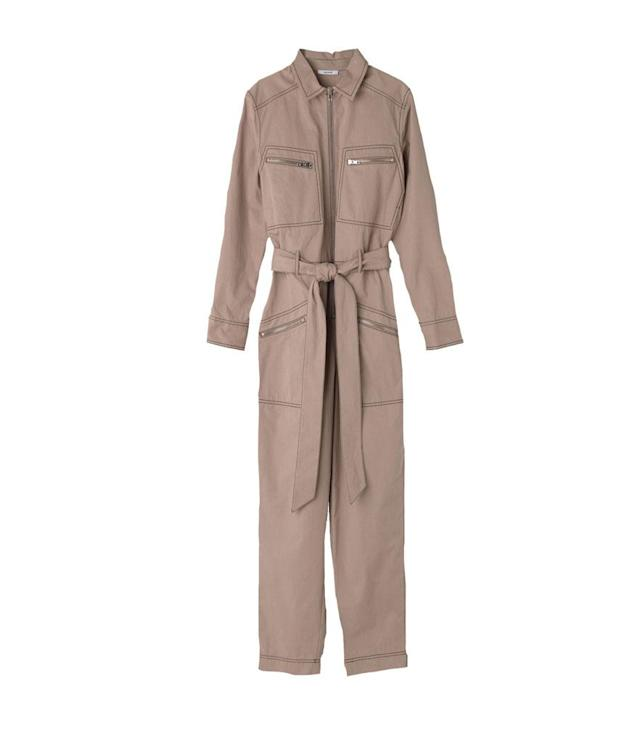"<p>Phillips Cotton Suit, $273,<a href=""http://www.ganni.com/en/phillips-cotton-jumpsuit/F2187.html?dwvar_F2187_color=Chanterelle"" rel=""nofollow noopener"" target=""_blank"" data-ylk=""slk:ganni.com"" class=""link rapid-noclick-resp""> ganni.com</a> </p>"
