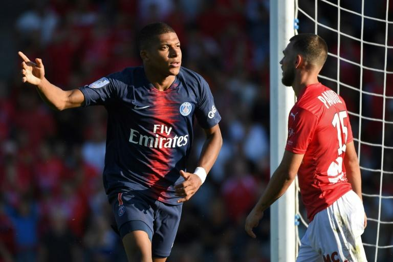 Kylian Mbappe scored PSG's third goal before he saw red