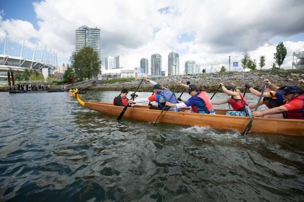 The Concord Pacific Dragon Boat Festival is slated to start Sept. 18 and will continue until Sept. 26 after being postponed earlier this year and cancelled in 2020 due to the COVID-19 pandemic.  (Maggie MacPherson/CBC - image credit)
