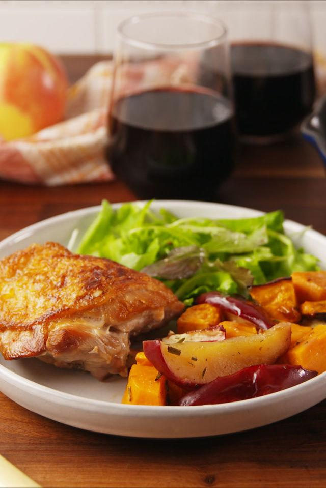 """<p>The perfect chicken recipe for fall.</p><p>Get the recipe from <a rel=""""nofollow"""" href=""""http://www.delish.com/cooking/recipe-ideas/recipes/a56028/apple-cider-glazed-chicken-recipe/"""">Delish</a>.</p>"""
