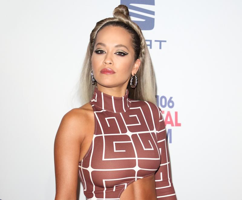 LONDON, UNITED KINGDOM - DECEMBER 07 2019: Rita Ora attends the Capital's Jingle Bell Ball at The O2 Arena in London.- PHOTOGRAPH BY Keith Mayhew / Echoes Wire/ Barcroft Media (Photo credit should read Keith Mayhew / Echoes Wire / Barcroft Media via Getty Images)