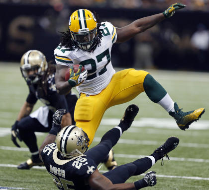 Eddie Lacy has rushed for 1,000-plus yards in each of his two NFL seasons,. (AP)