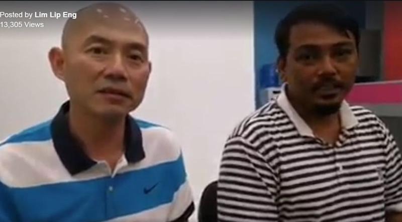 A screenshot of a video showing the man apologising to the victim of his harassment and Malaysians in general.
