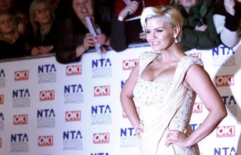 Kerry Katona arrives for the National Television Awards at the 02 Arena in east London, Wednesday, Jan. 25, 2012. (AP Photo/Joel Ryan)