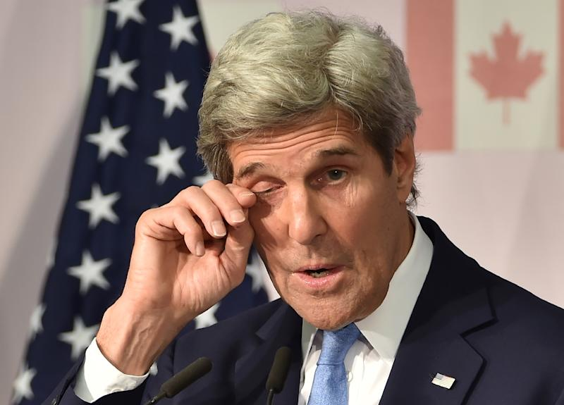 """John Kerry said he was """"deeply moved"""" to become the first US Secretary of State to visit Hiroshima (AFP Photo/Kazuhiro Nogi)"""