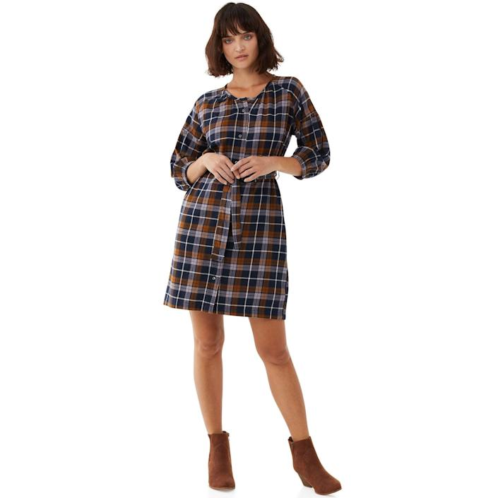 """<br> <br> <strong>Free Assembly</strong> Organic Cotton Shirred Shirtdress, $, available at <a href=""""https://go.skimresources.com/?id=30283X879131&url=https%3A%2F%2Fwww.walmart.com%2Fip%2FFree-Assembly-Women-s-Shirred-Shirtdress%2F717088419%3FvariantFieldId%3Dactual_color"""" rel=""""nofollow noopener"""" target=""""_blank"""" data-ylk=""""slk:Walmart"""" class=""""link rapid-noclick-resp"""">Walmart</a>"""