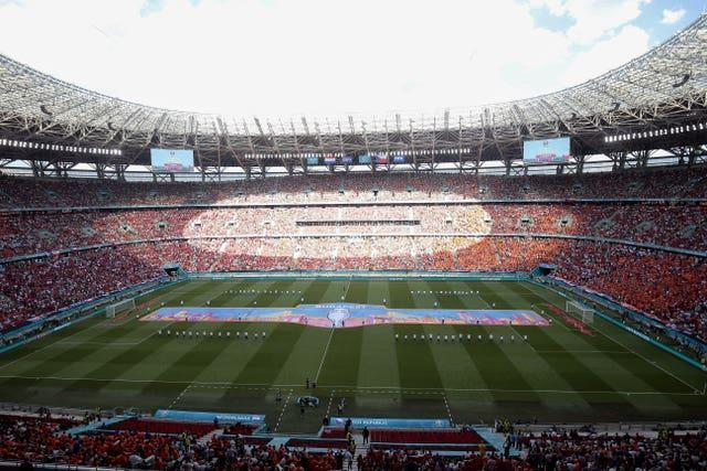 England can expect an intimidating atmosphere at the Puskas Arena on Thursday