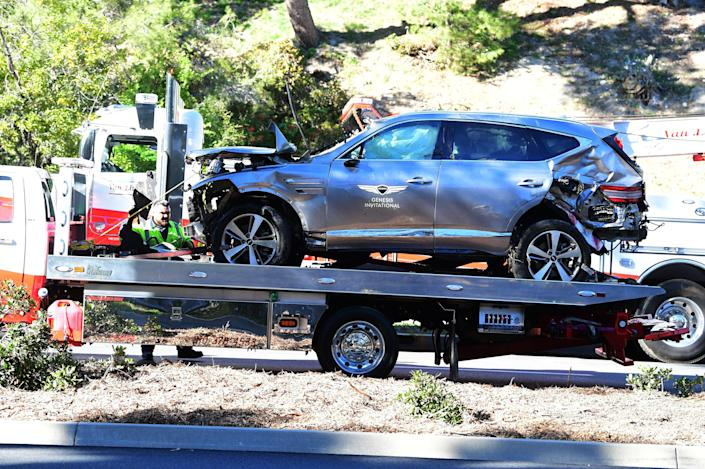 <p>Tiger Woods undergoes surgery after suffering 'multiple leg injuries' in California car crash</p> (Photo by FREDERIC J. BROWN/AFP via Getty Images)