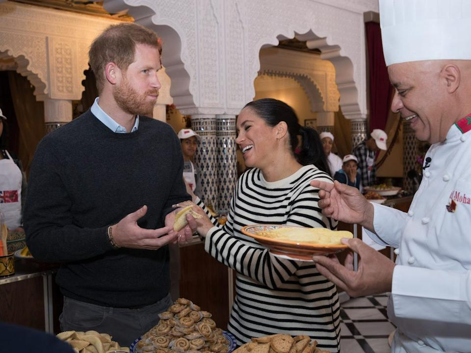 Harry and Meghan cooking
