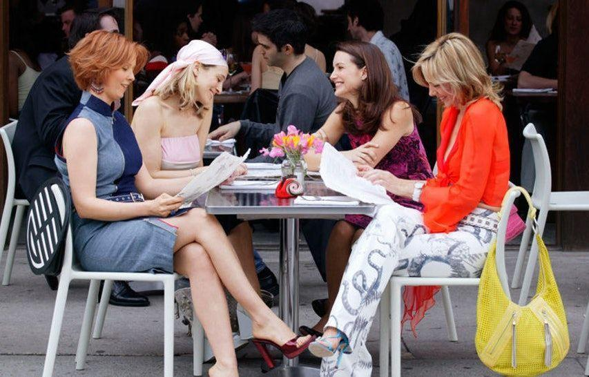 <p>No matter what was going on in their lives, Carrie, Miranda, Charlotte, and Samantha always managed to meet for Sunday brunch at spots around New York City in <em>Sex and the City</em>. Between bites of omelets and sips of mimosas the foursome discussed...well, we can't discuss what they discussed, but it was always very juicy and delicious.</p>