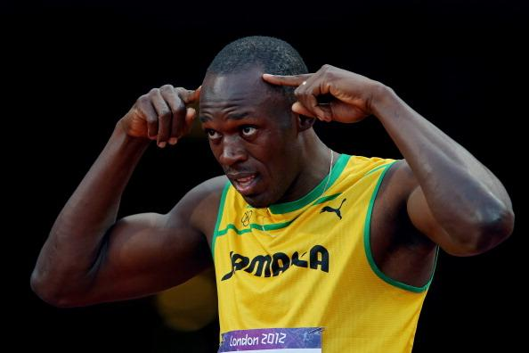 LONDON, ENGLAND - AUGUST 05:  Usain Bolt of Jamaica competes in the Men's 100m Semi Final on Day 9 of the London 2012 Olympic Games at the Olympic Stadium on August 5, 2012 in London, England.  (Photo by Alexander Hassenstein/Getty Images)
