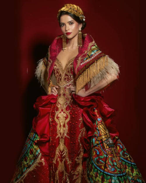 Day previously won Best National Costume for this piece by Louis Pangilinan